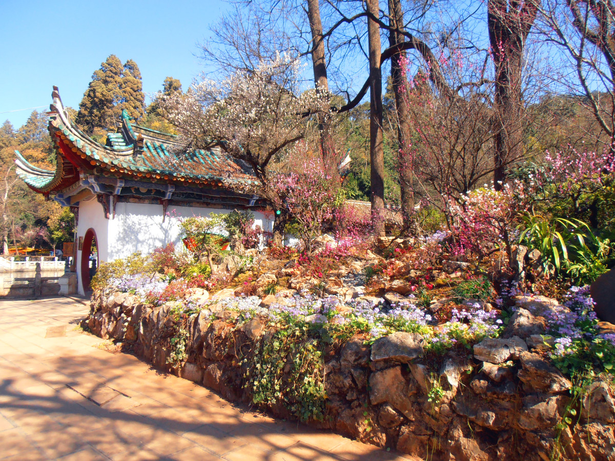 Zahrada v Kunming, Čína