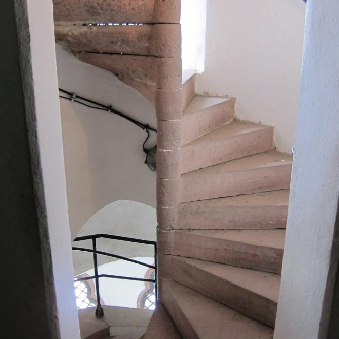 Schodiště v Hodinové věži