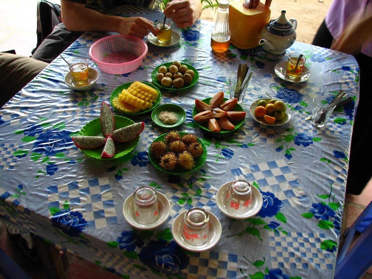 Občerstvení ve formě exotického ovoce