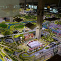 Království železnic - pohled na model z patra