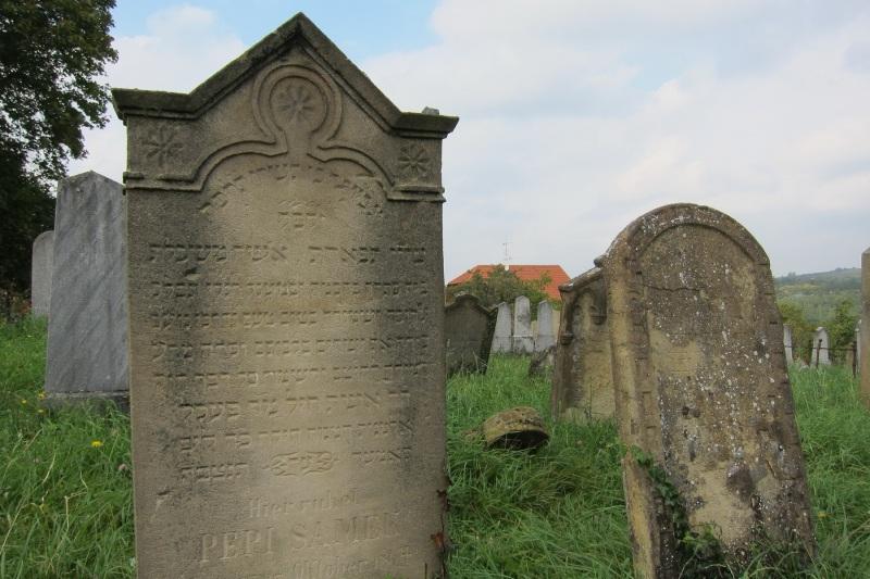 Náhrobky na židovském hřbitově v Dolních Kounicích