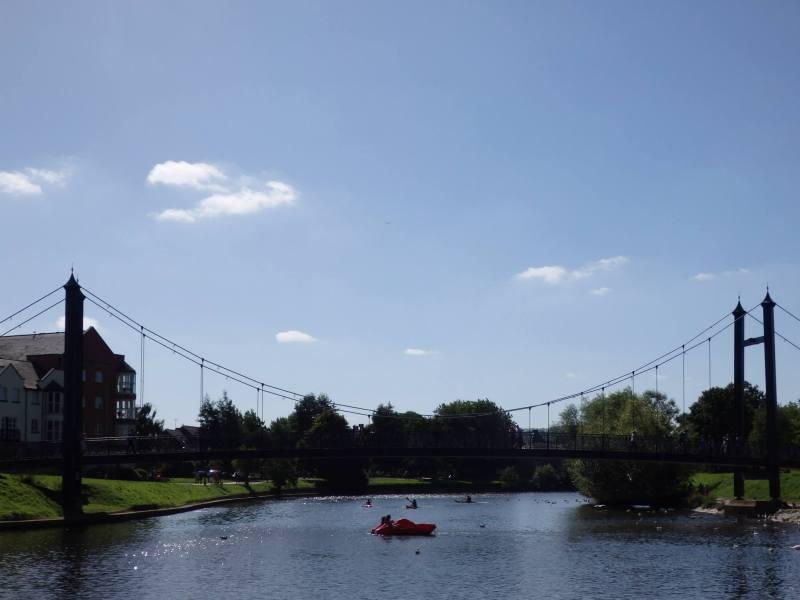 Řeka Exe v Exeteru