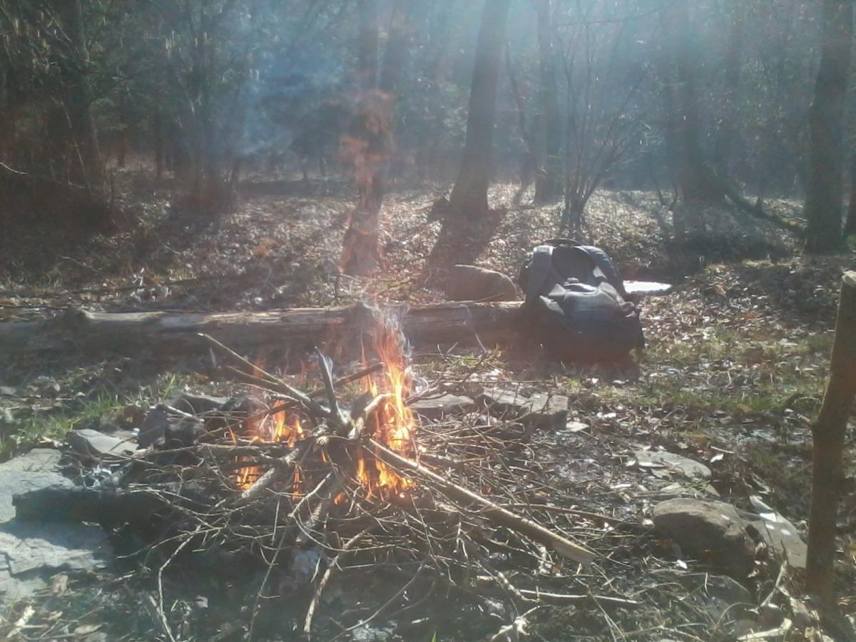 bushcraft, čundrák, noc v přírodě