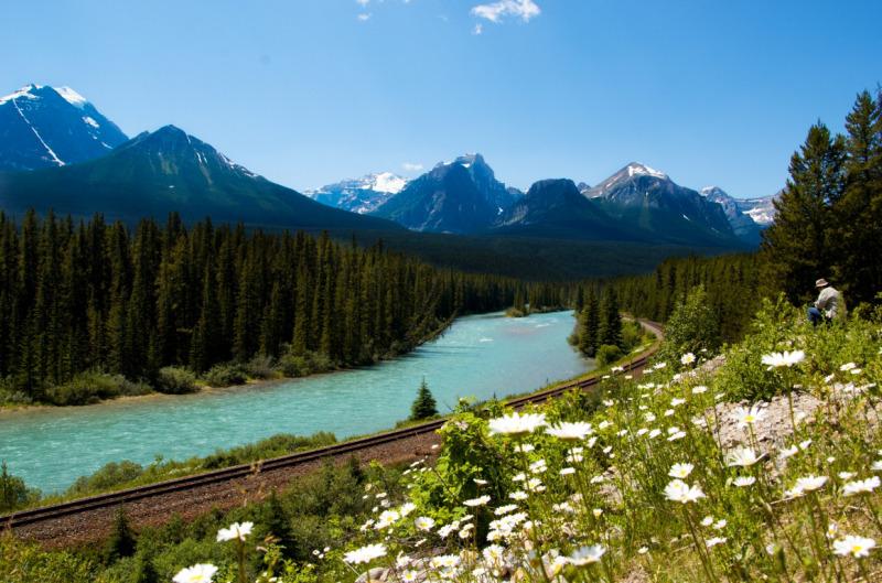 Výhledy z dálnice po cestě do Jasperu