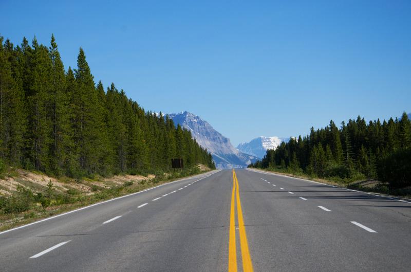 Dálnice mezi parky Banff a Jasper