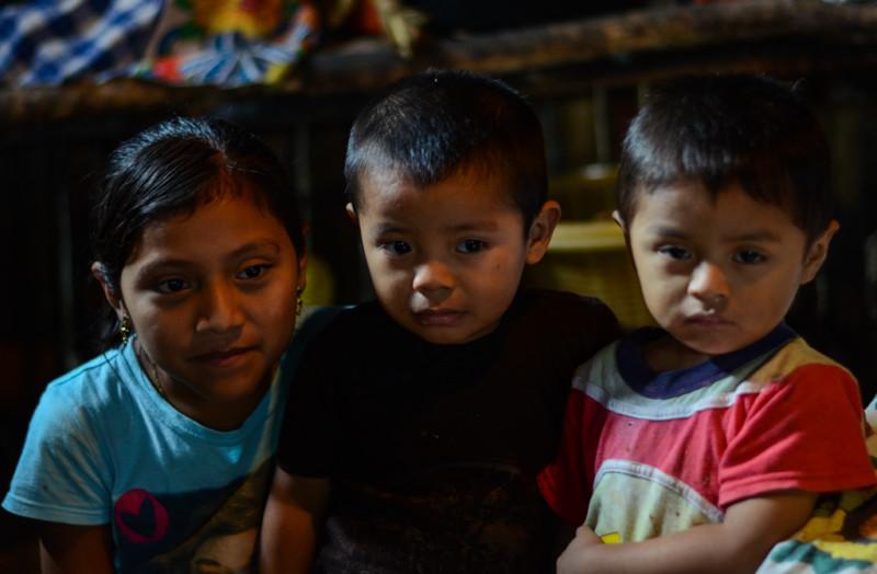 Mayská rodina v Guatemale