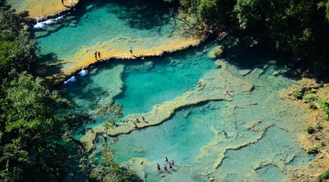 Semuc Champey – místo, kde se řeka ztrácí pod skálou