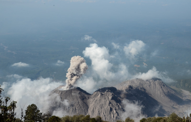 Erupce sopky Santiguaito