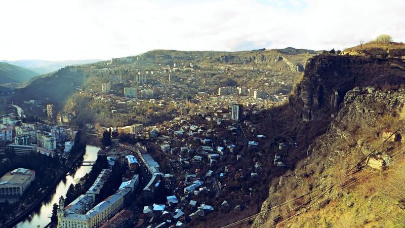 Výhled na město.