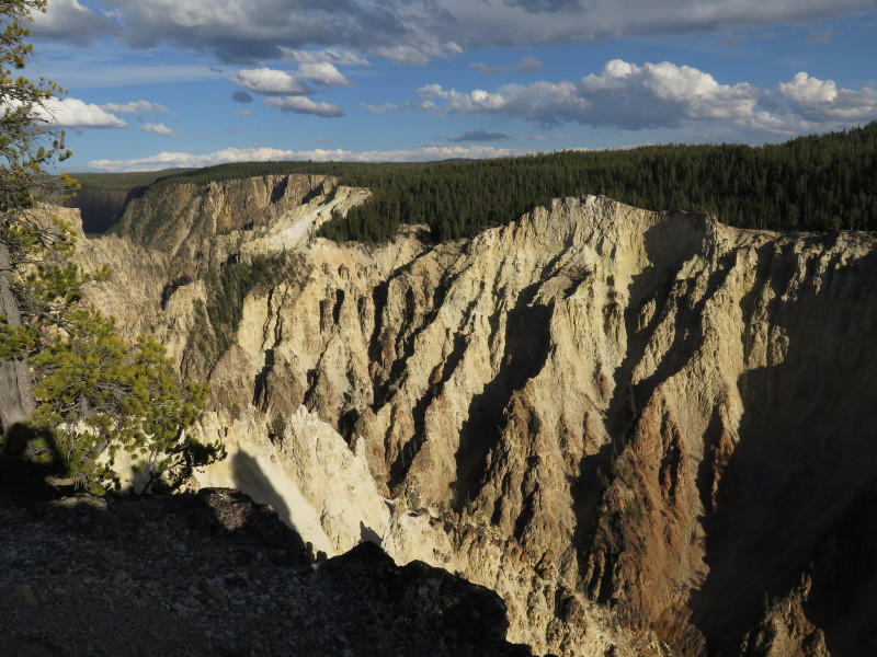 Grand Canyon v Yellowstonském národním parku.