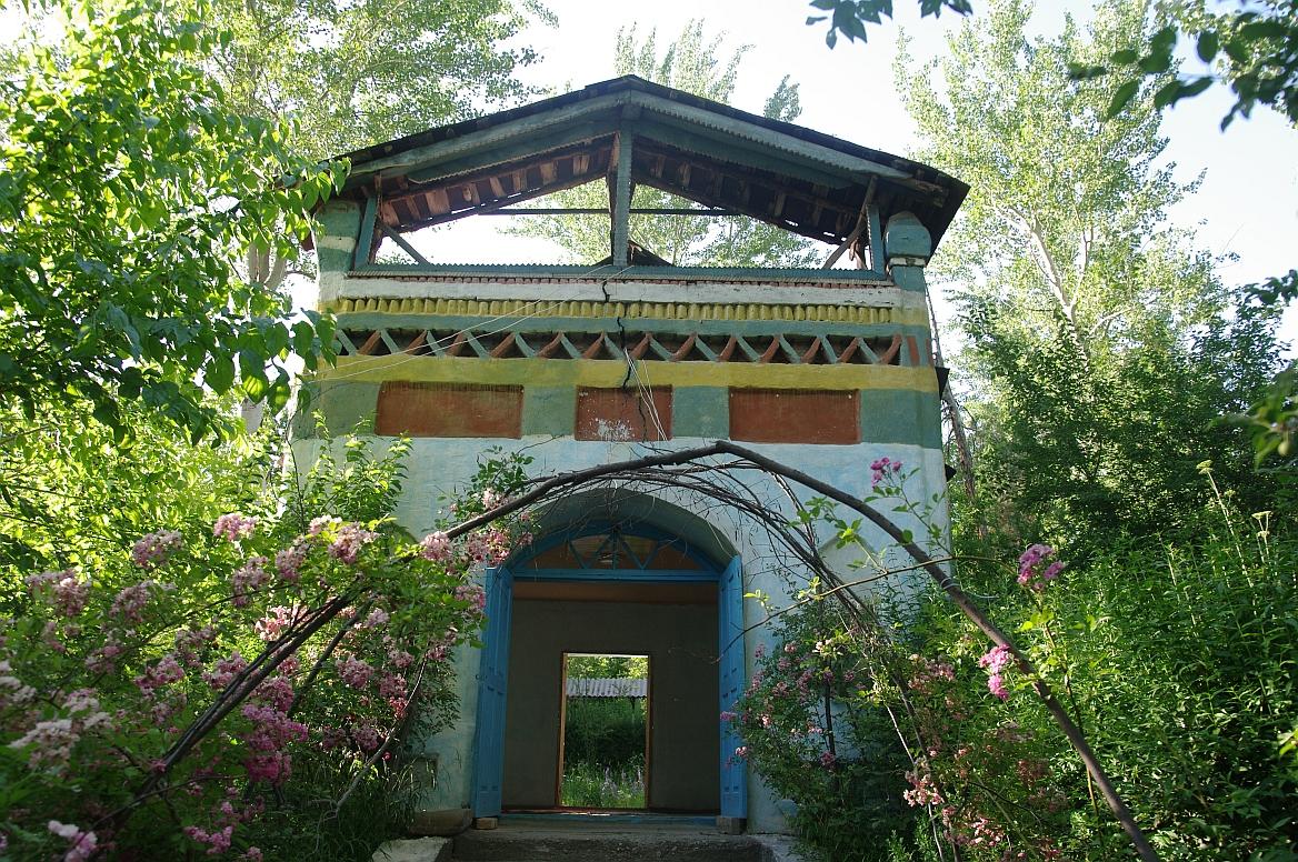 architektura v obci Arslanbob, Kyrgyzstán