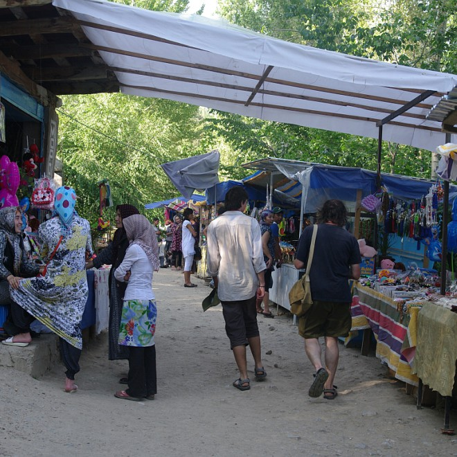 poutní místo v Arslanbobu, Kyrgyzstán