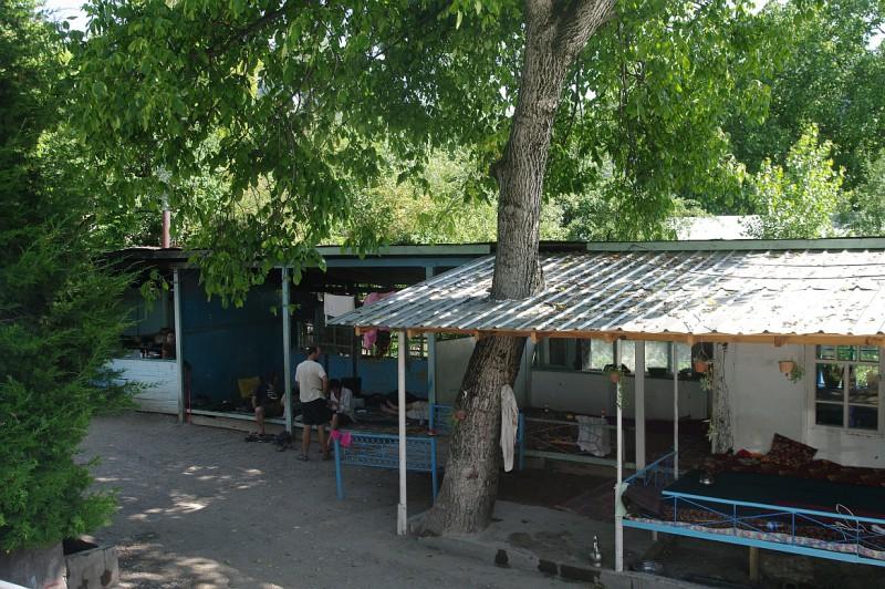 vesnická architektura v Arslanbobu, Kyrgyzstán