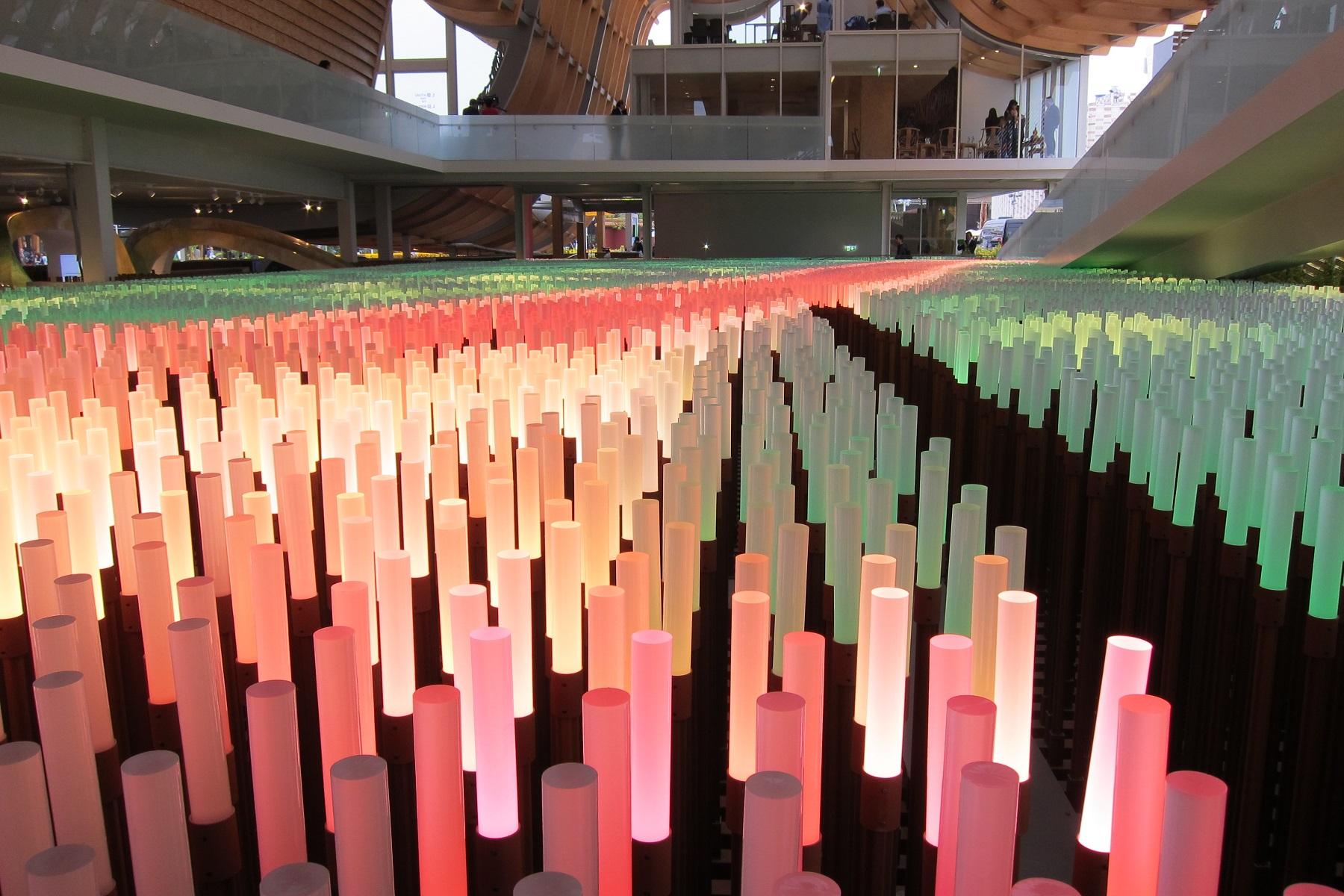 V čínském pavilonu, Expo 2015