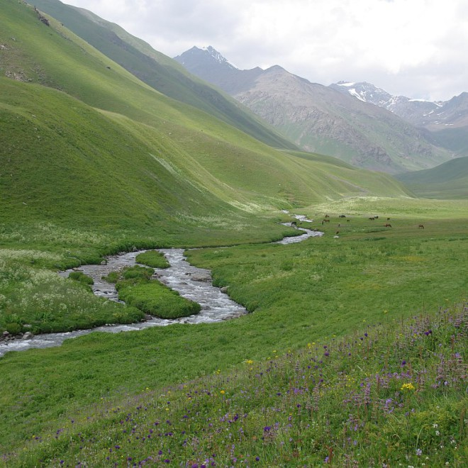 Kyrgyzstán, Kyrgyzský hřeben, hory