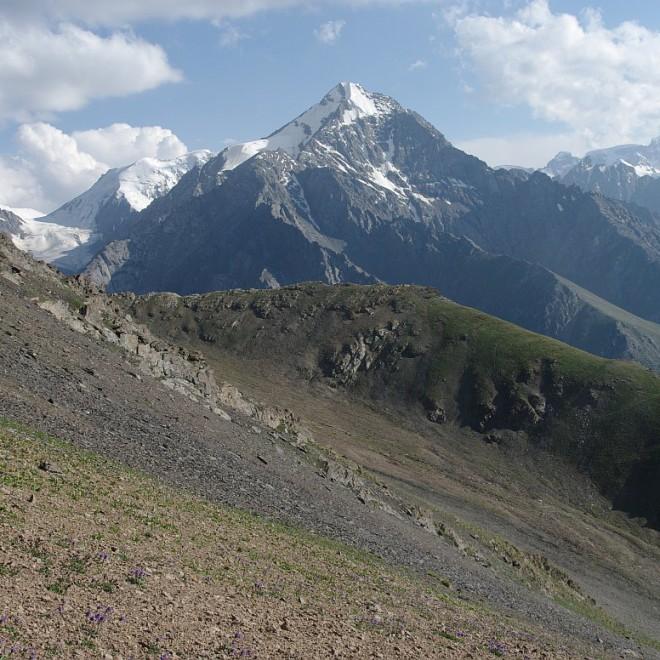 Severní svahy Těrský Alatau, Kyrgyzstán