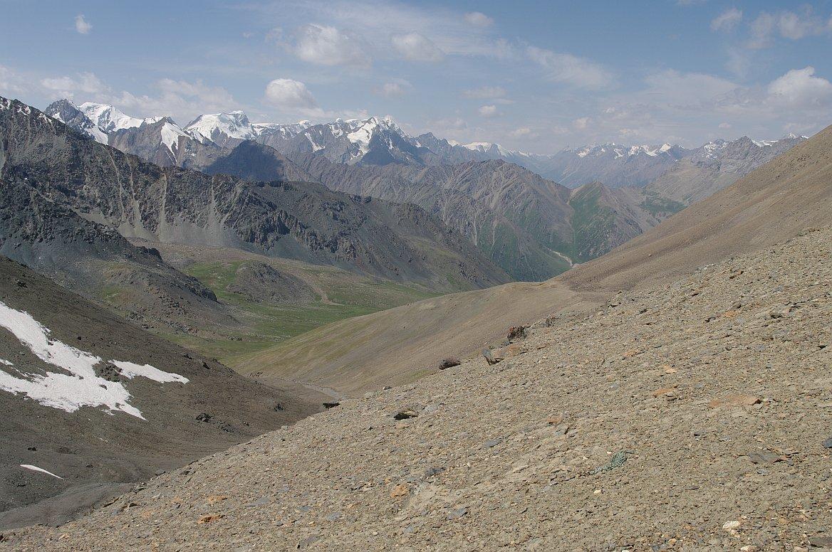 Severní svahy Těrskej Alatau, Kyrgyzstán
