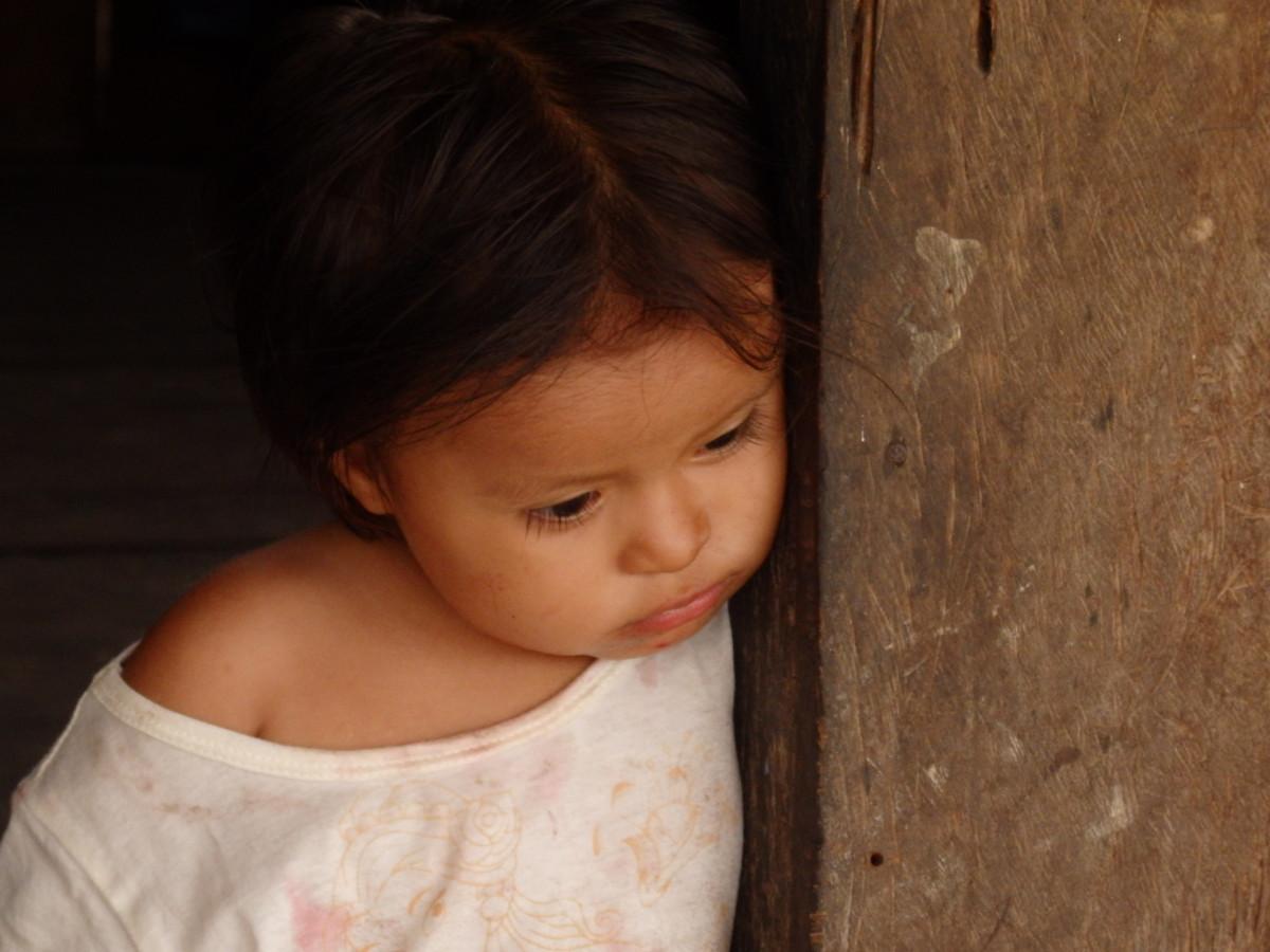 peruánská holčička v Tres Unidos
