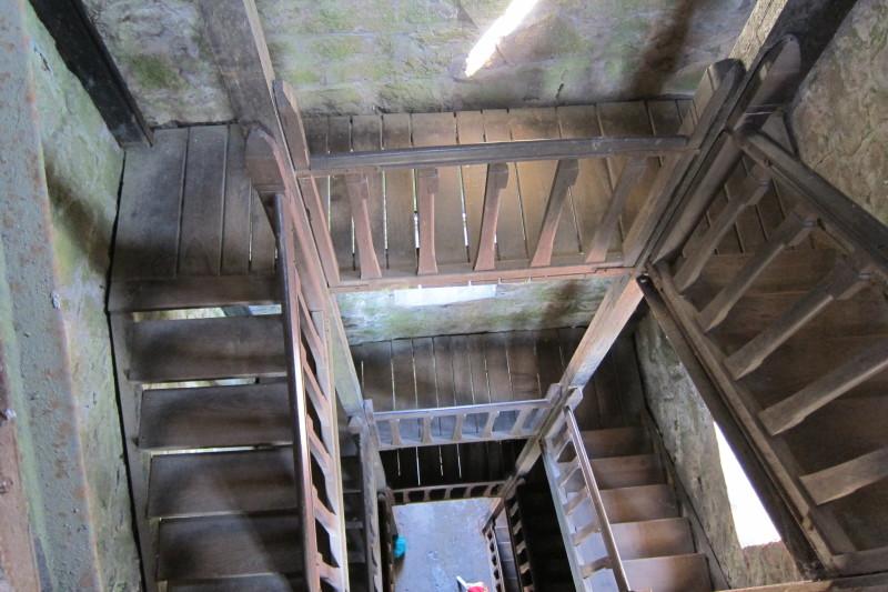 Schody na vrchol rozhledny Černá Studnice