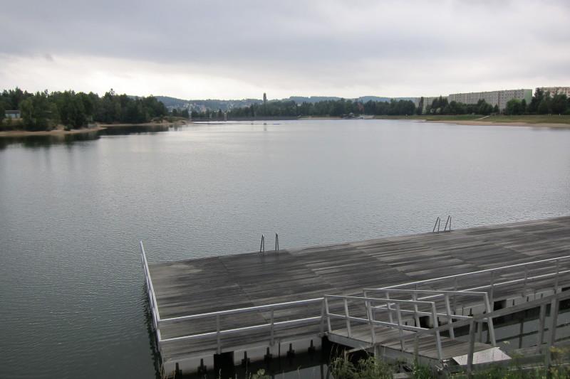 Molo (foceno z hráze mezi přehradou I. a II.)