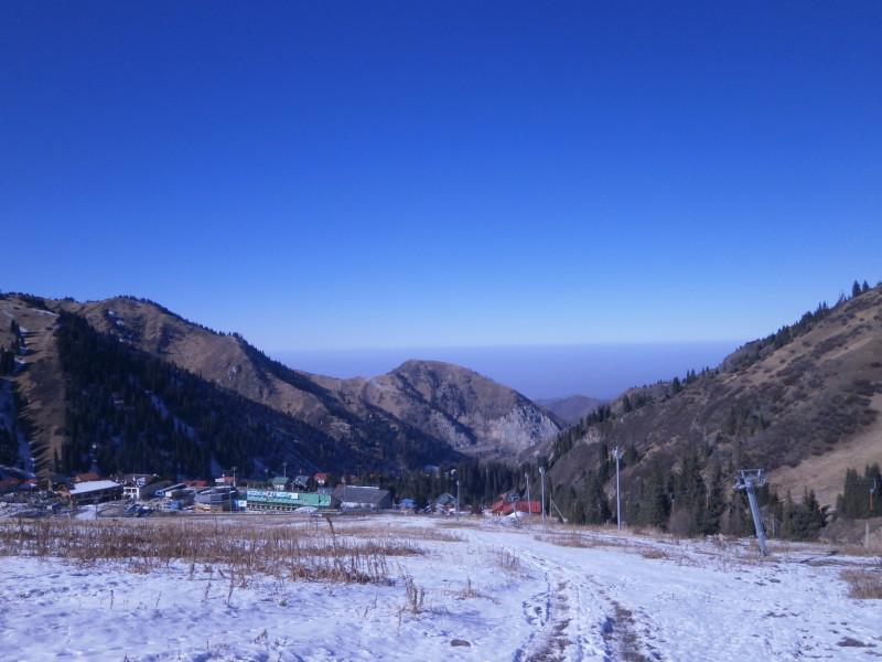 Výhled ze Shymbulaku