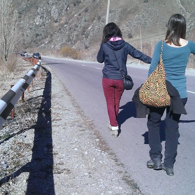 Stopování k Big Almaty Lake