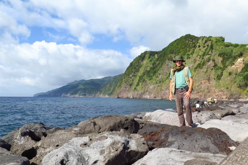 První nádech u mořského pobřeží Azorských ostrovů
