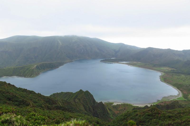 Kráter Lagoa do Fogo, Azory.