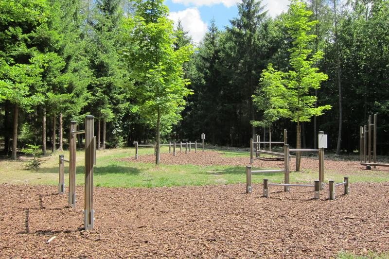 Lesní tělocvična v lesích Podhůra
