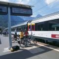 Přeprava kol vlakem není ve Švýcarsku žádný problém.