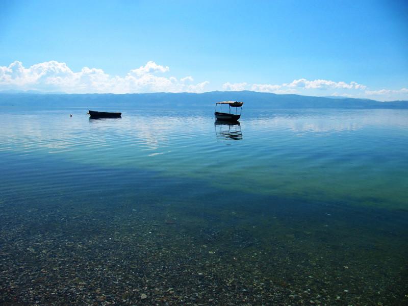 Ohridské jezero.