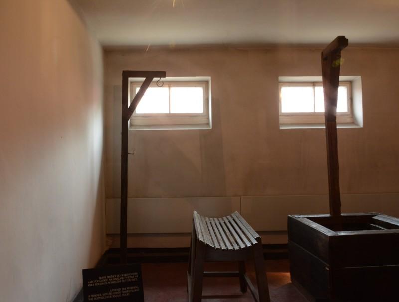 Osvětim - Popravčí místnost