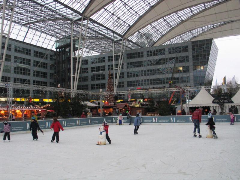 Letiště v Mnichově.