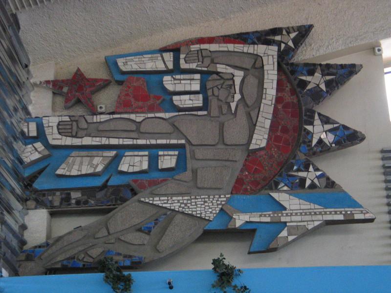 Výzdoba kyjevského letiště.