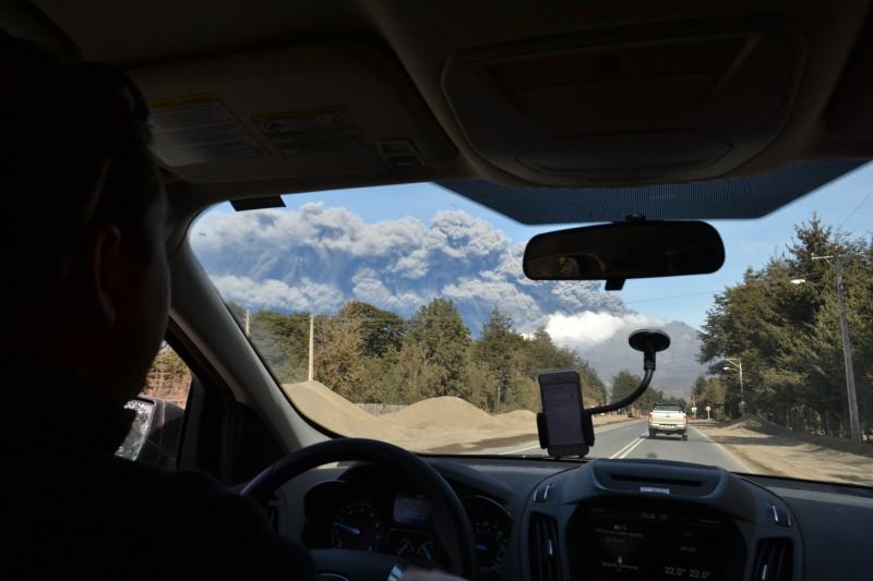 Akčný pohľad počas evakuácie