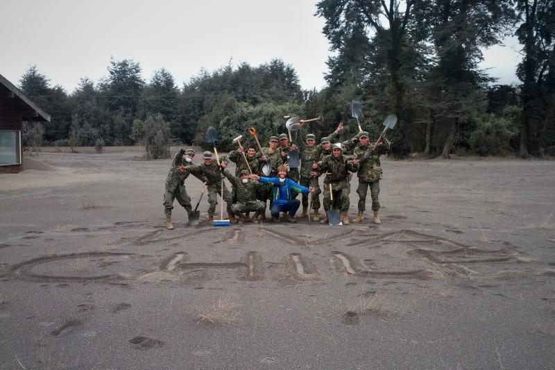 Ja s chilskou armádou v akcii