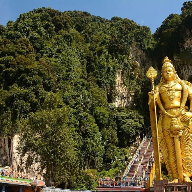 Batu Caves - Mahabharata Caves, Kuala Lumpur, Malajsie