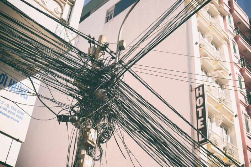 Elektrické vedení v Saigonu