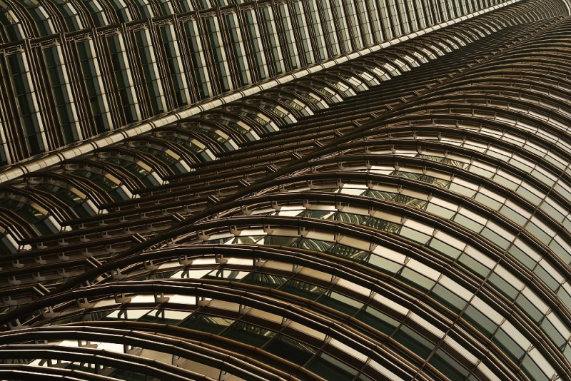Kuala Lumpur, Malajsie - Petronas Towers v detailu