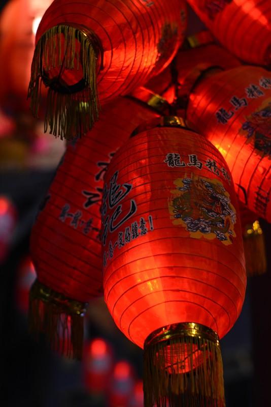 Kuala Lumpur - Čínská čtvrť - lampiony prý nosí štěstí.