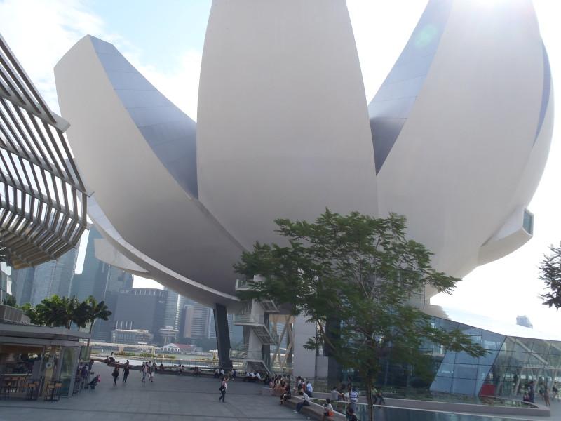 ArtScience Museum ve tvaru lotosového květu v Singapuru