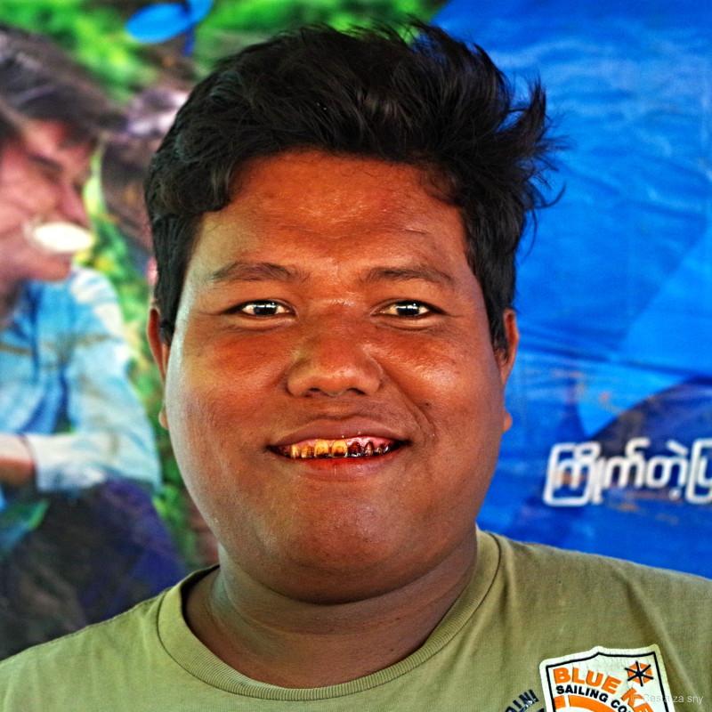 Takové zuby budete mít, když budete žvýkat betel.