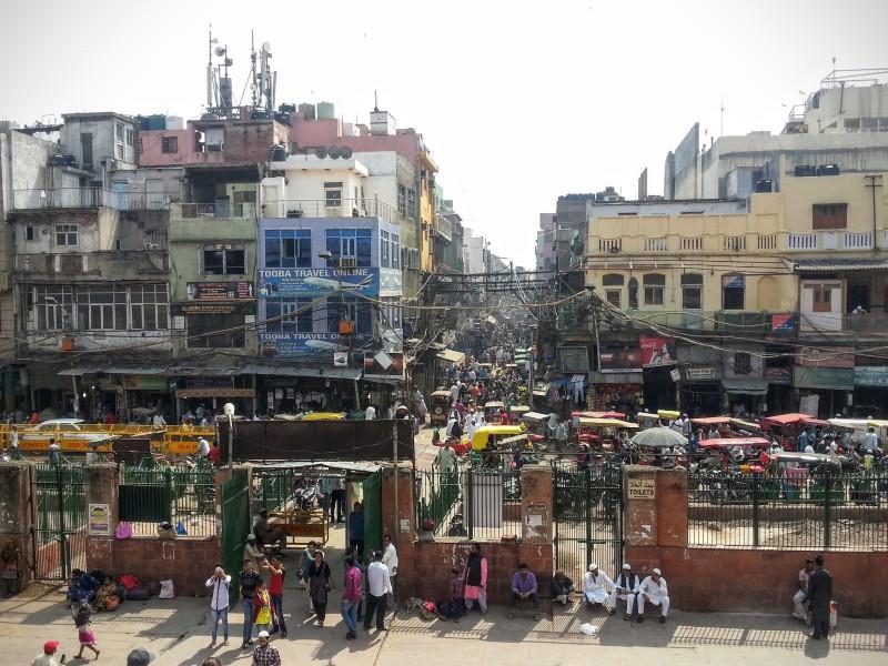 """Uličky """"starého města"""" v Dillí"""