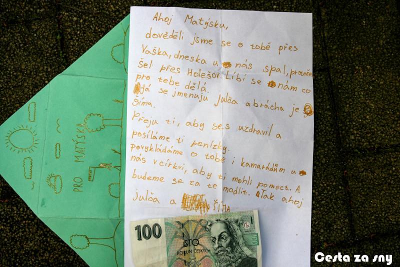 I děti přispívaly na Matěje :-)
