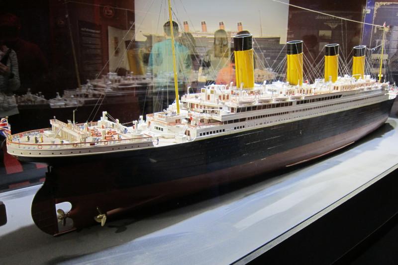 Model lodi po dokončení