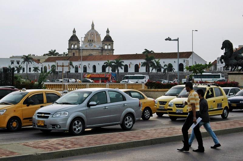 Cartagena a taxíky