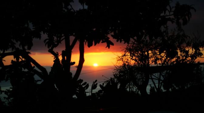 Západ slunce na farmě, La Palma