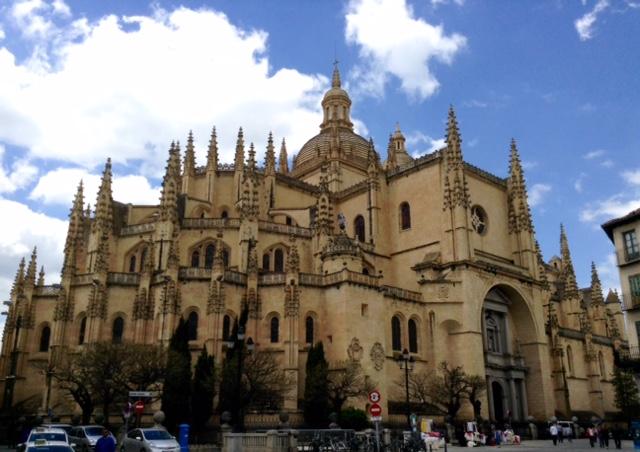 Katedrála ve městě Segovia, Španělsko