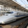 Vlak Shinkansen v Japonsku.