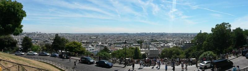 Pohled na Paříž z Montmartu